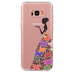 olcso Galaxy S4 Mini tokok-Case Kompatibilitás Samsung Galaxy S8 S7 Ultra-vékeny Átlátszó Minta Fekete tok Szexi lány Puha TPU mert S8 Plus S8 S7 edge S7 S6 edge