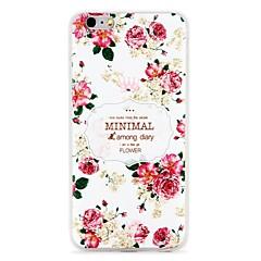 Кейс для Назначение Apple iPhone 7 iPhone 7 Plus Рельефный С узором Задняя крышка Цветы Мягкий TPU для iPhone 7 Plus iPhone 7 iPhone 6s