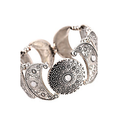 billige Armbånd-Dame Manchetarmbånd Armbånd Vintage Boheme Stil Legering Rund form måne Smykker Til I-byen-tøj