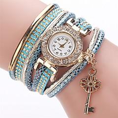 preiswerte Damenuhren-Damen Modeuhr Armband-Uhr Simulierter Diamant Uhr Quartz Imitation Diamant PU Band Analog Charme Freizeit Elegant Weiß / Blau / Rot - Rot Grün Leicht Grün