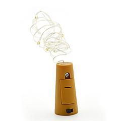 お買い得  LED ストリングライト-2m ストリングライト 20 LED SMD 0603 温白色 装飾用 / クリスマスウェディングデコレーション バッテリー駆動 1個 / IP65