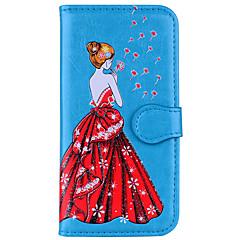 Χαμηλού Κόστους Θήκες iPhone 5S / SE-tok Για Apple iPhone X iPhone 8 Πορτοφόλι Ανοιγόμενη Μαγνητική Με σχέδια Ανάγλυφη Πλήρης Θήκη Σέξι κυρία Πικραλίδα Σκληρή PU δέρμα για