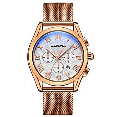 preiswerte Tolle Angebote auf Uhren-Herrn Armbanduhr Chinesisch Chronograph Edelstahl Band Luxus / Freizeit / Elegant Schwarz / Silber / Gold
