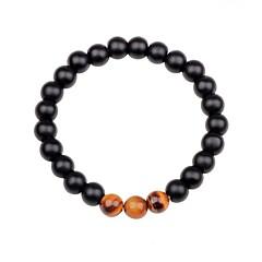 preiswerte Armbänder-Unisex Obsidian Strang-Armbänder - Mehrfarbig Armbänder Schwarz / Braun / Grün Für Geschenk / Ausgehen