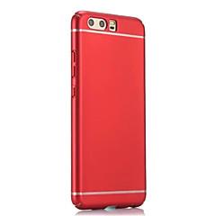 voordelige Nieuw Binnengekomen-hoesje Voor Huawei P10 Plus P10 Reliëfopdruk Achterkantje Effen Kleur Hard PC voor Huawei P10 Plus Huawei P10