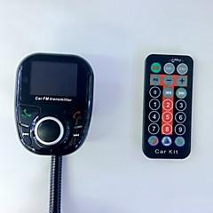 bt002 universal wireless car mp3 audio player bluetooth fm transmissor com controle remoto monofone lcd screen usb charger
