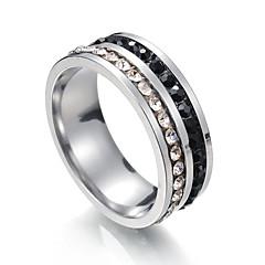 Χαμηλού Κόστους Γυναικεία κοσμήματα-Ανδρικά Γυναικεία Band Ring Cubic Zirconia 1 Μεταλλικός Ανοξείδωτο Ατσάλι Circle Shape Κοστούμια Κοσμήματα Πάρτι Μπικίνι