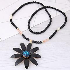 Жен. Ожерелья с подвесками Резина Сплав С цветами европейский Мода Бижутерия Назначение Повседневные