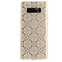Недорогие Чехлы и кейсы для Galaxy Note Edge-Кейс для Назначение Note 8 Ультратонкий Прозрачный С узором Задняя крышка Кружева Печать Мягкий TPU для Note 8 Note 5 Edge Note 5 Note 4