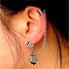 tanie Kolczyki-Damskie Kolczyki z klipsem Ear Cuffs Vintage Na co dzień Wyrazista biżuteria Modny Nowoczesne Stop Geometric Shape Line Shape Kotwica