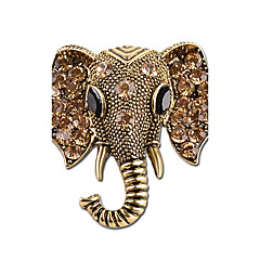 cheap Brooches-Women's Brooches - Rhinestone Elephant Simple, Vintage Brooch Gold / Silver For Casual / Going out