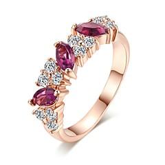 Жен. Классические кольца Цирконий Классика Винтаж На каждый день Elegant Циркон Позолоченное розовым золотом Геометрической формы