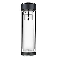 Χαμηλού Κόστους -Γραφείο/Καριέρα Ποτήρια, 350 Οργανικό γυαλί Ανοξείδωτο Ατσάλι Τσάι Νερό Μπουκάλια Νερού
