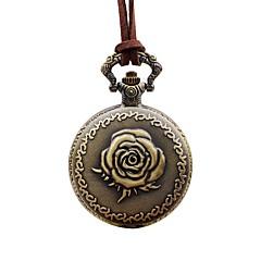 tanie Zegarki w kwiaty-Damskie Zegarek kieszonkowy Chiński Kwarcowy Na codzień Skóra Pasmo Kwiat Elegancki Brązowy