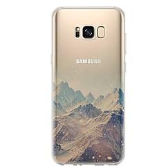 billige Galaxy S4 Mini Etuier-Etui Til S8 S7 Ultratyndt Transparent Mønster Bagcover Landskab Blødt TPU for S8 Plus S8 S7 edge S7 S6 edge plus S6 edge S6 S6 Active S5