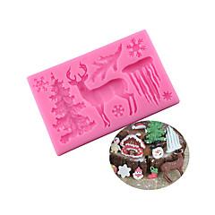 お買い得  ベイキング用品&ガジェット-ベークツール シリコーンゴム / シリカゲル / シリコーン 焦げ付き防止 / ベーキングツール / 3D クッキー / チョコレート / 調理器具のための ケーキ型 1個