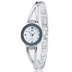 cheap Watch Deals-Women's Quartz Wrist Watch Chinese Chronograph Stainless Steel Band Casual Simulated Diamond Watch Elegant Fashion Christmas Silver Pink