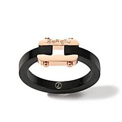 お買い得  指輪-女性用 バンドリング - ローズゴールドめっき 韓国語, ファッション 6 / 7 / 8 ブラック 用途 日常 / デート