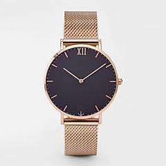 Hombre Mujer Reloj Casual Reloj Deportivo Reloj de Moda Chino Cuarzo Cronógrafo Acero Inoxidable Banda Casual Elegant Navidad Plata Oro