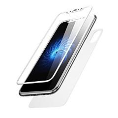 Недорогие Защитные пленки для iPhone X-Защитная плёнка для экрана для Apple iPhone X Закаленное стекло 2 штs Защитная пленка для экрана и задней панели HD / Уровень защиты 9H / Ультратонкий