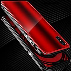Недорогие Кейсы для iPhone-Кейс для Назначение Apple iPhone X iPhone X Защита от удара Бампер Сплошной цвет Твердый Металл для iPhone X