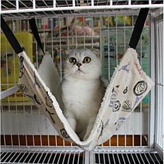 ネコ 犬 ベッド ペット用 マット/パッド 水玉柄 ブリティッシュ 保温 携帯用 折り畳み式 ソフト 洗濯可 ブラック 虹色 ペット用
