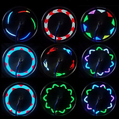 Cykellys hjul lys LED - Cykling Vandtæt Lille størrelse Nemt at bære Trådløs Farveskiftende LED Lys AAA 20 Lumen Batteri Cykling