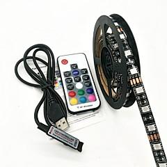 お買い得  LED ストリングライト-ZDM® 2m ライトセット 120 LED 5050 SMD RGB リモートコントロール / 防水 <5 V 1個 / IP65