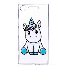 Case For Sony Xperia XZ1 Xperia XA1 Transparent Pattern Back Cover Unicorn Soft TPU for Sony Xperia XZ1 Sony Xperia X Sony Xperia XA1