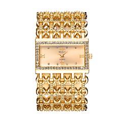 Naisten Muotikello Pukukello Rannekello Kiina Quartz Hollow Engraving jäljitelmä Diamond Metalliliseos Bändi Ylellisyys Vapaa-aika