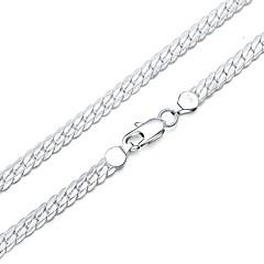 olcso karkötő-Férfi Női Ezüstözött Lánc & láncszem karkötők - Divat Geometric Shape Ezüst Karkötők Kompatibilitás Ajándék