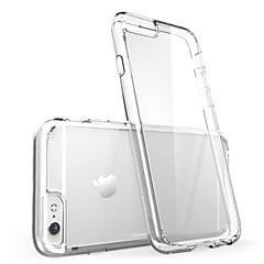 Pour iPhone X iPhone 8 iPhone 8 Plus iPhone 6 iPhone 6 Plus Etuis coque Ultrafine Transparente Coque Arrière Coque Couleur unie Flexible