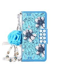 Недорогие Чехлы и кейсы для Galaxy Note 5-Кейс для Назначение SSamsung Galaxy Note 8 / Note 5 Кошелек / Бумажник для карт / со стендом Чехол Цветы Твердый Кожа PU для Note 8 / Note 5 / Note 4