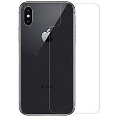 Недорогие Защитные пленки для iPhone X-Защитная плёнка для экрана для Apple iPhone X Закаленное стекло 1 ед. Защитная пленка для задней панели Уровень защиты 9H / Взрывозащищенный / Защита от царапин