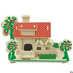 voordelige -3D-puzzels Houten puzzels Modelbouwsets Houten modellen Huis 3D Kinderen Hot Sale Huizen Mode nieuw Modern/Hedendaags Alle leeftijden 6