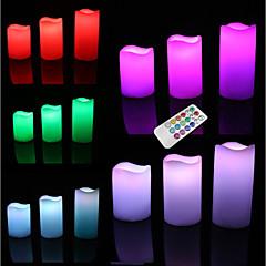 abordables Juguetes con Iluminación-Iluminación LED Vacaciones Bombilla incluida / Fluorescente / Control remoto Adulto Regalo 3 pcs