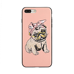 voordelige iPhone 6s Plus-hoesjes-hoesje Voor Apple iPhone X iPhone 8 Plus Patroon Achterkant Hond Hard PU-nahka voor iPhone X iPhone 8 Plus iPhone 8 iPhone 7 Plus iPhone