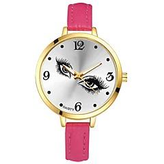 halpa Naisten kellot-Naisten Rannekello Kiina Quartz Iso näyttö PU Bändi Vapaa-aika Tyylikäs Värikäs Musta  Valkoinen Sininen  Punainen  Ruskea