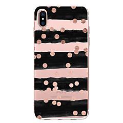 Недорогие Кейсы для iPhone X-Кейс для Назначение Apple iPhone X iPhone 8 Прозрачный С узором Кейс на заднюю панель Полосы / волосы Мягкий ТПУ для iPhone X iPhone 8