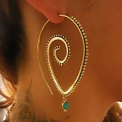 voordelige Oorbellen-Dames Ring oorbellen Vintage Bohémien Legering Drop Ovaal Sieraden Kerstmis Feest Verloving Lahja Causaal Kostuum juwelen
