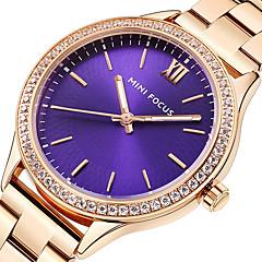 preiswerte Damenuhren-MINI FOCUS Damen Armbanduhren für den Alltag / Armbanduhr Japanisch Armbanduhren für den Alltag Edelstahl Band Luxus / Freizeit Schwarz / Silber / Gold