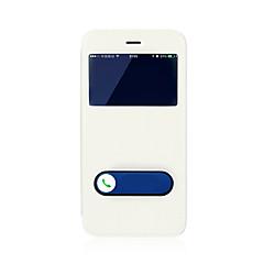 Недорогие Кейсы для iPhone 7-Кейс для Назначение Apple iPhone 8 / iPhone 8 Plus со стендом / с окошком / Флип Чехол Однотонный Твердый Кожа PU для iPhone 8 Pluss / iPhone 8 / iPhone 7 Plus