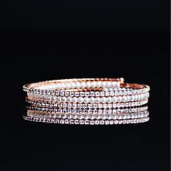 preiswerte Armbänder-Damen Perle Tennis Armbänder - Kubikzirkonia, Rose Gold überzogen Armbänder Rotgold Für Hochzeit / Party