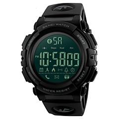 お買い得  メンズ腕時計-SKMEI 男性用 スポーツウォッチ / リストウォッチ 日本産 Bluetooth / アラーム / カレンダー PU バンド ぜいたく ブラック / クロノグラフ付き / 耐水 / リモートコントロール / ストップウォッチ / 夜光計
