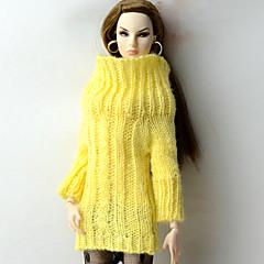 Blusas Blusa Para Boneca Barbie Amarelo Blusas Para Menina de Boneca de Brinquedo