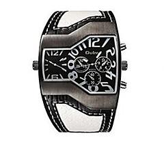 Heren Polshorloge Modieus horloge Kwarts Thermometer Kompas Leer Band Informeel