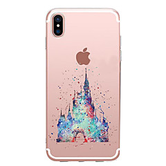 tanie Etui do iPhone 6s-Kılıf Na Apple iPhone X iPhone 8 Przezroczyste Wzór Czarne etui Rysunek Miękkie TPU na iPhone X iPhone 8 Plus iPhone 8 iPhone 7 Plus