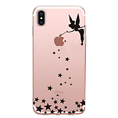 billige Etuier til iPhone 6s-Etui Til Apple iPhone X iPhone 8 iPhone 6 iPhone 7 Plus iPhone 7 Ultratyndt Mønster Bagcover Sexet kvinde Blødt TPU for iPhone X iPhone 8