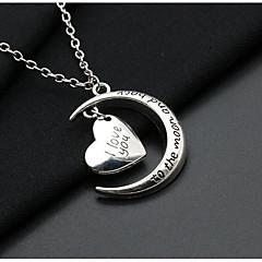 Жен. Ожерелья с подвесками MOON Сердце Серебрянное покрытие Сплав Простой Винтаж Бижутерия Назначение Свидание