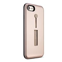 Кейс для Назначение Apple iPhone X iPhone 8 Защита от удара Кольца-держатели Задняя крышка Сплошной цвет броня Твердый PC для iPhone X